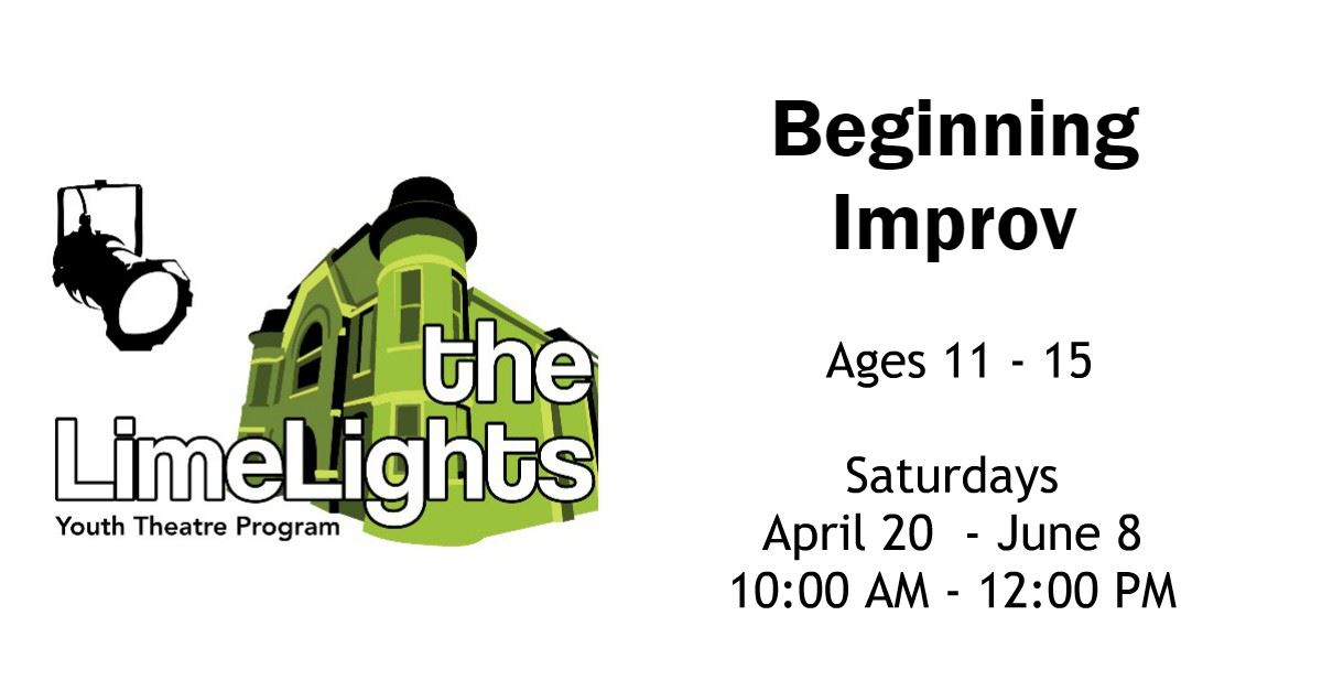 Beginning Improv Workshop Page Banner
