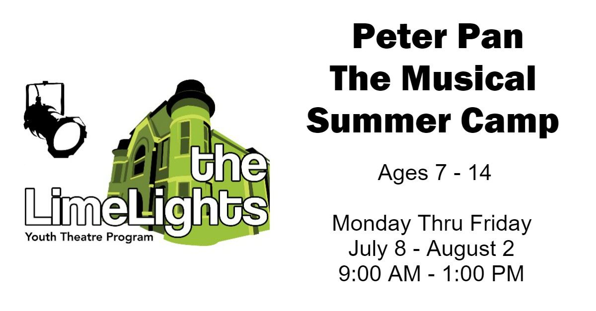 Peter Pan The Musical Summer Camp Page Banner