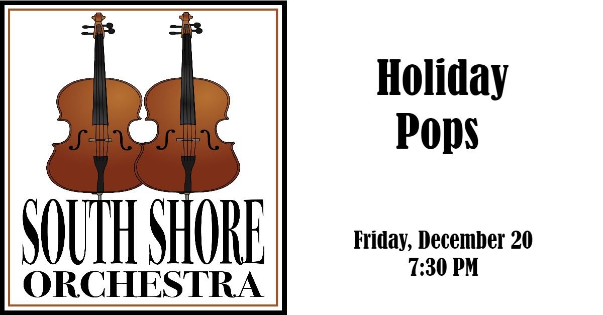 2019 South Shore Orchestra Holiday Pops Event Page Banner
