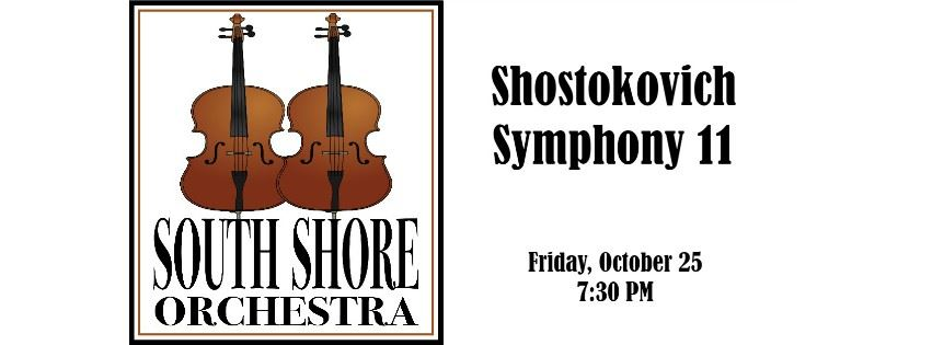 CLICK HERE for information and tickets for the South Shore Orchestra Shostokovich Symphony 11 Concer