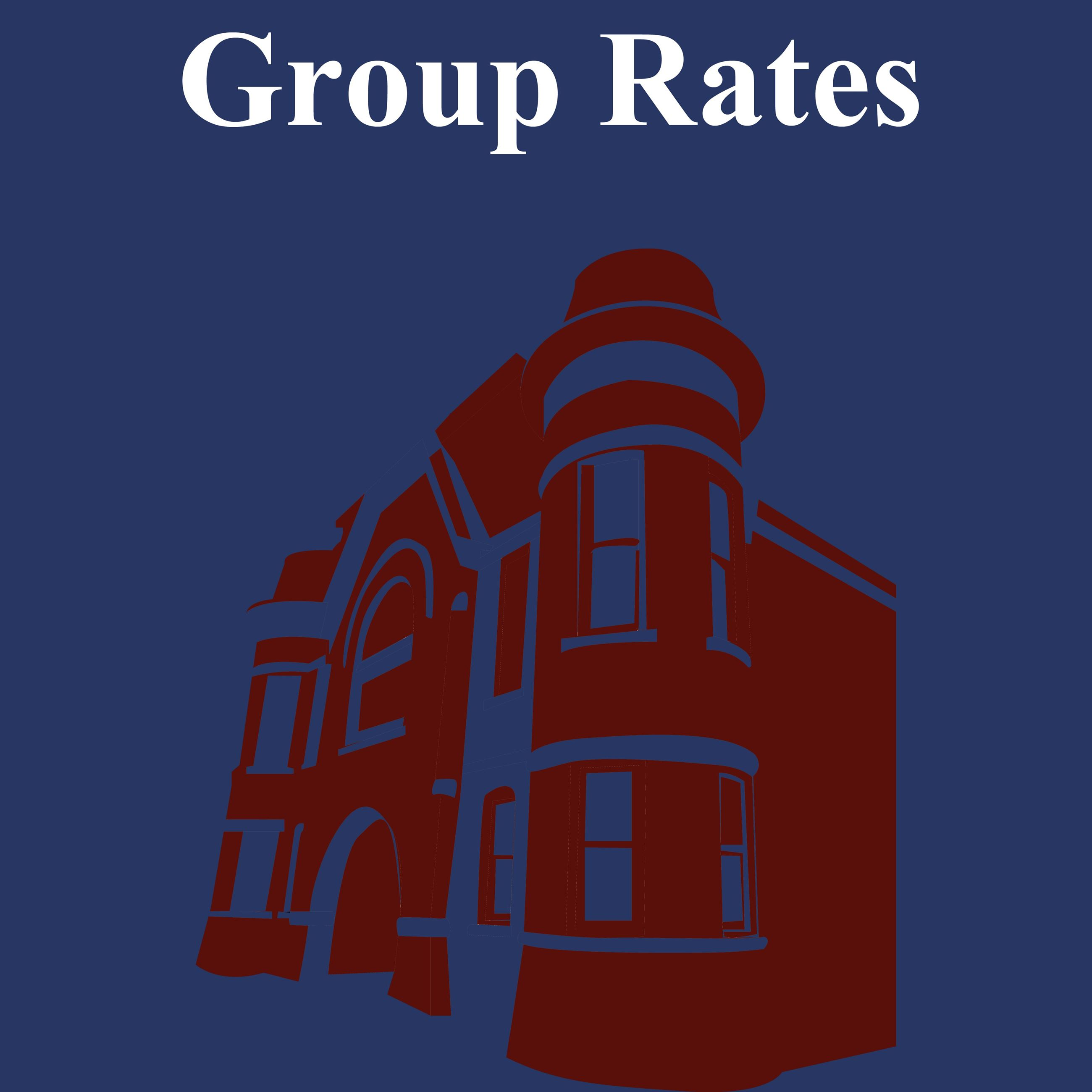 CLICK HERE For Information About Money Saving Group Rates