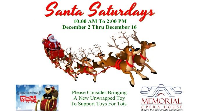 CLICK HERE For More Information About Santa Saturdays