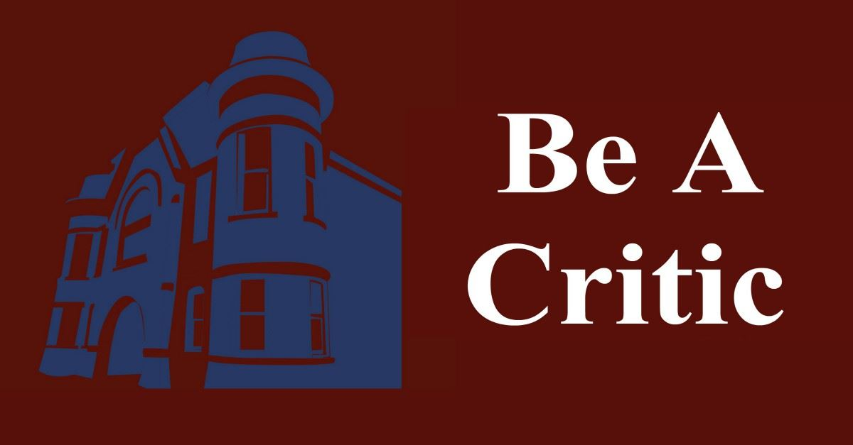 Be A Critic Page Banner