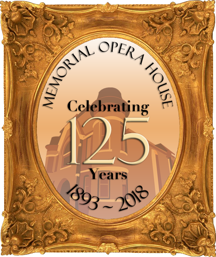 Memorial Opera House 125th Anniversary Logo
